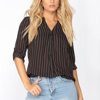 Serious Ways Blouse - Black