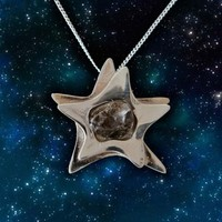 The Official I Love Science Store | Silver Star Campo Del Cielo Meteorite Pendant