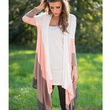 Womens Casual Long Cardigan Coat +Gift Necklace