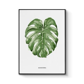 Green Nordic adornment picture sitting room hangs wall decor contracted plant small and pure and fresh dining-room murals E cool