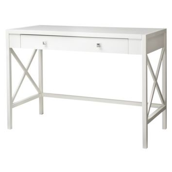 Hamilton X Slat Office Desk - White Finish