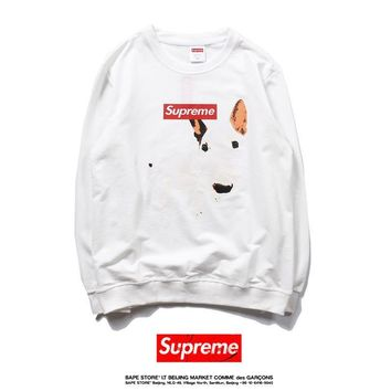 Supreme Fall Winter Pullover Sweatershirt Black White [11570137420]