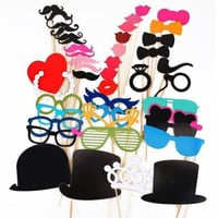 New 44pcs Christmas Photo Booth Props Moustache Lips On A Stick Wedding Christmas Birthday Mustache Party Favors Sv011688|27701 = 1932271044