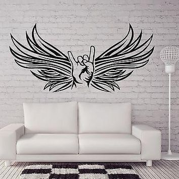 Wall Sticker Vinyl Decal Goat Rocker Sign Style Metal Musicians Unique Gift (n172)