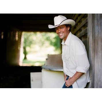 Clay Walker poster Metal Sign Wall Art 8in x 12in