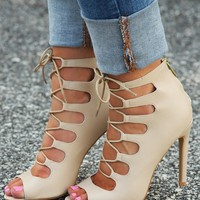 RESTOCK: So Far So Good Heels: Cream