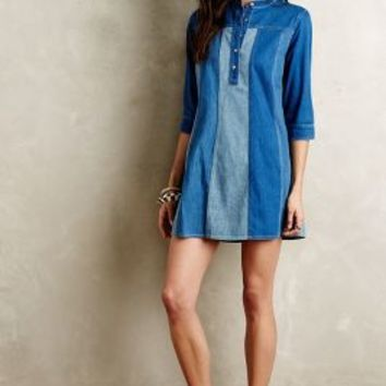 Striped Denim Tunic Dress