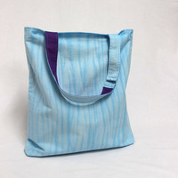 Blue Shibori Tote, Canvas Shopping Bag, Tie Dye Tote Bag, Market Bag, Light Blue Tote, Shibori Bag, Hand Dyed Tote Bag, Shopper Tote
