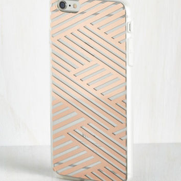 Shine on the Line iPhone 6 Plus Case in Copper by ModCloth