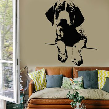 Wall Vinyl Decal Dog Cute Puppy Animals Cool Modern Decor Unique Gift z3902