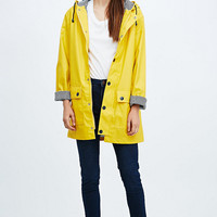Petit Bateau Longline Raincoat in Yellow - Urban Outfitters