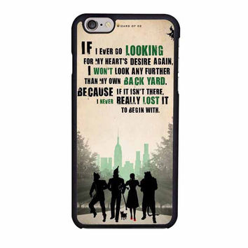 the wizard of oz poster movie quote iphone 6 6s 4 4s 5 5s 5c cases