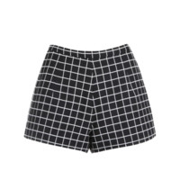 Black and White Grid Shorts