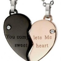Necklaces Gifts for Couples-you complete me sweet heart
