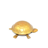 Vintage Brass Turtle Ashtray Gold Turtle Ashtray Brass Turtle Collectible Turtle Figurine