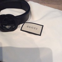 Men's All Black Gucci Belt