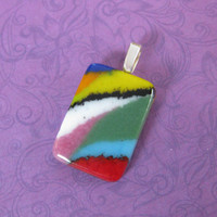 Colorful Pendant, Glass Art Pendant, Wearable Art, Colorful Jewelry - Abbi Rose - 4562 -3