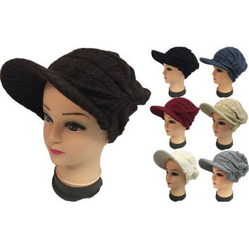 Women's Knit Hats with Brim