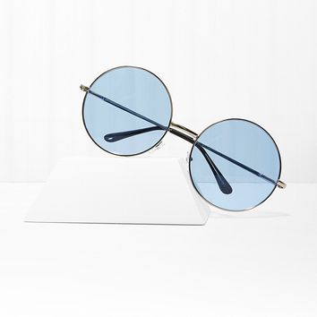 Almost Famous Blue Round Sunglasses