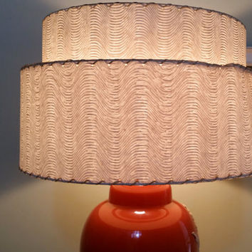 Fifties Two Tier Fiberglass Lampshade Mid Century Lamp Shade