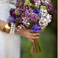 Lilac Bridal Bouquet by BrendasWeddingBlog