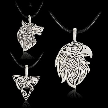 Viking Wolf Eagle Norse Viking Necklace For Men Norse Talisman Original Wild Men power Jewelry Amulet