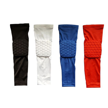 Mcdavid Basketball Elbow Pads Supports Compression Arm Sleeve Protector Anti-collision Honeycomb Armguard