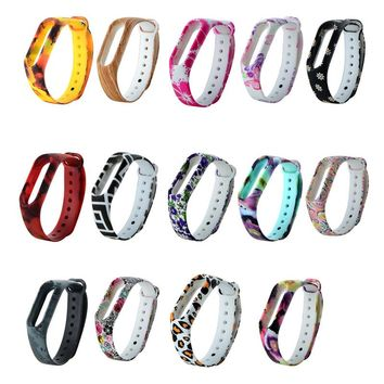 Sport Patterned Silicon Wrist Strap  Replacement For Xiaomi Mi Band 2 Bracelet P0.11