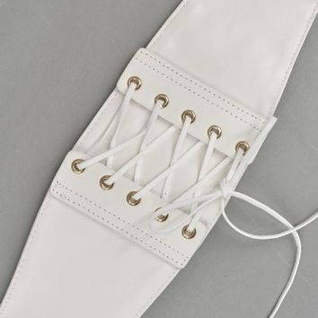 Corset Belt in White