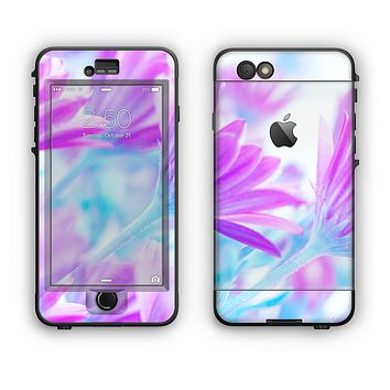 The Vibrant Blue & Purple Flower Field Apple iPhone 6 LifeProof Nuud Case Skin Set