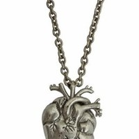 Black Heart Anatomical Zombie Horror Bloody Halloween Necklace