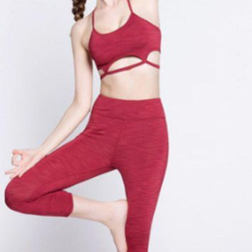 VONEYW7 lululemon shows slimming seven point pants and running sports body hugging stretch yoga pants