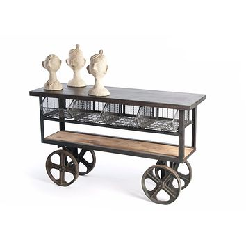 Industrial Wood Cart by Go Home Ltd. 12503
