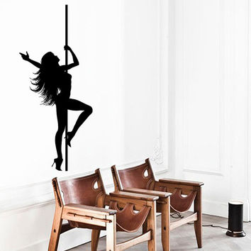 Wall Decals Girl Pole Dance Fashion People Beauty Salon Home Vinyl Decal Sticker Kids Nursery Baby Room Decor kk388