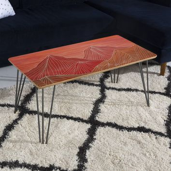 Viviana Gonzalez Lines in the mountains V Coffee Table | DENY Designs Home Accessories