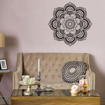 PEAPIX3 Waterproof Flower Shape Mandala Art Wall Sticker [9357009412]