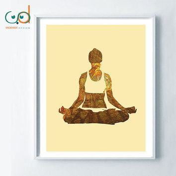 Yoga art, Yoga Namaste, inspirational printable art, amazing print decor, zen art, feng shui art personal development poster, positive print