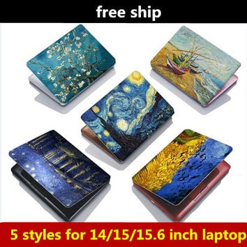 15 inch Van Gogh Starry Night Oil painting laptop skins cover stickers