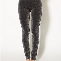 Black Metallic Leggings - Spencer's