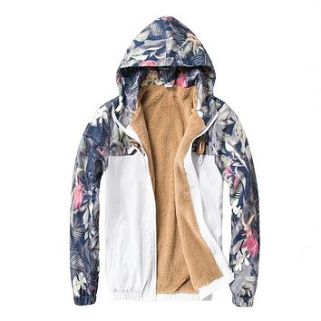 Men's Tropical Slim Fit Bomber Windbreaker Jacket