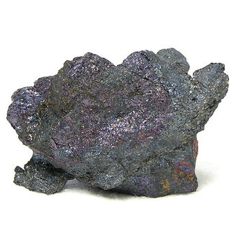 Native Silver Leaf in Iridescent Bornite Metallic Silver Ore Mineral, VIntage Mineral Specimen mined in Mexico in the 1980's, Rainbow Patina