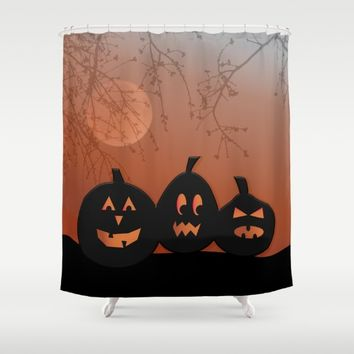 Halloween Pumpkins Shower Curtain by UMe Images