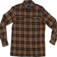 Vol5 Drifter L/S Flannel S-Brown Button-Up