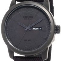 Citizen Men's BM8475-00F  Black Canvas Strap Eco-Drive Watch