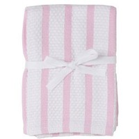 Gourmet Classics 14- by 14-inch Pink Stripe Casserole Dish Cloth, Set of 2