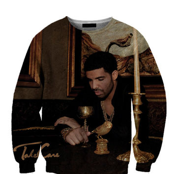 Take Care Drake All Over Custom Sublimated sweatshirt Unisex Women and Men