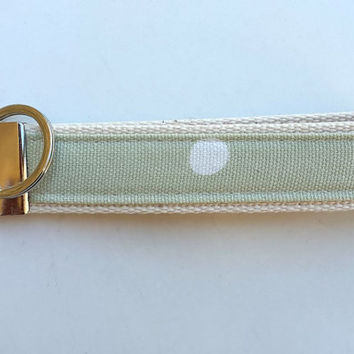 Wristlet webbing keyring. Handmade fabric and webbing key ring. Wrist Strap key fob. Stocking Filler