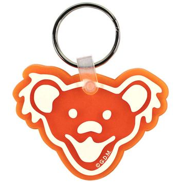Grateful Dead Bears Face Plastic Key Chain Orange
