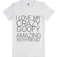 I Love My Boyfriend-Female White T-Shirt