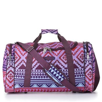 5 Cities¨ World's Lightest (Only 0.5kg!) Cabin Size Holdall -Fits Ryan Air/easy Jet 55 X 40 X X 20 -Flight Bag. Actual Dimension 54x30x20, Massive 32l Capacity (Aztec Multicolour)